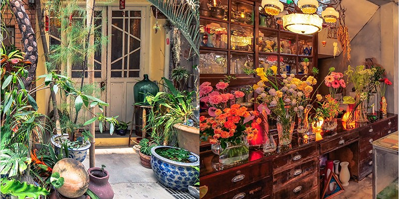 台中西區咖啡館   火山花店,巷弄裡的秘境,濃厚復古風的老宅甜點咖啡店。