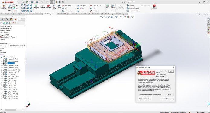 Working with SolidCAMCAD 2020 SP5 HF1 Standalone full