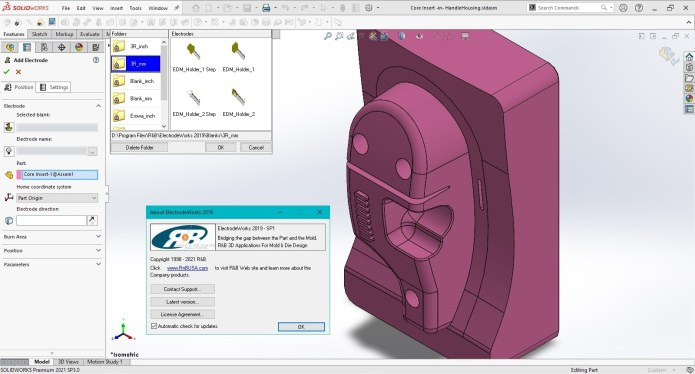 Working with R&B ElectrodeWorks 2019 SP1 for SolidWorks 2016-2021 full
