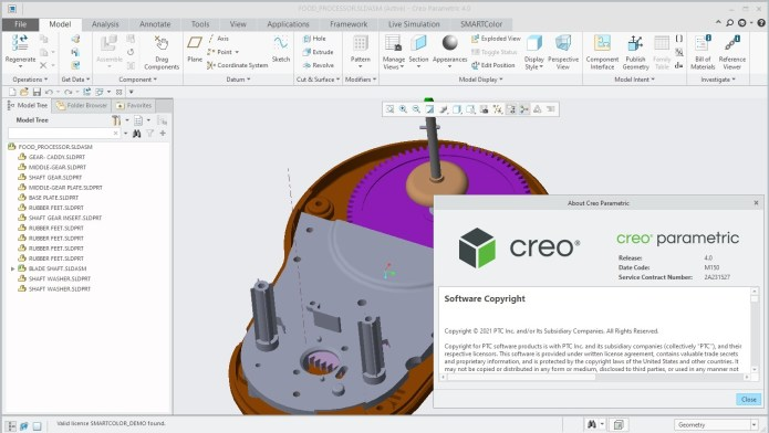 Working with PTC Creo 4.0 M150 full license
