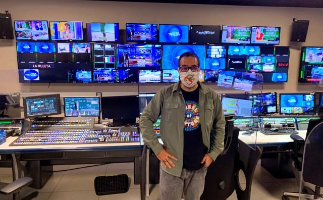 Nacho Correa en el control de realización