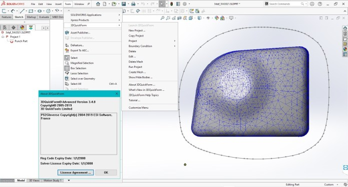 Working with 3DQuickForm v3.4.0 for SolidWorks 2009-2021 full