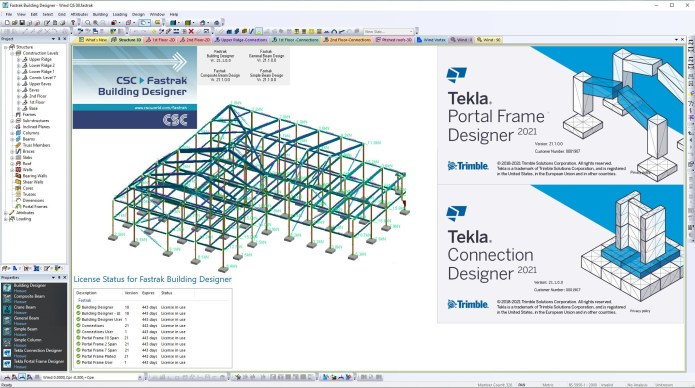 Working with Tekla Portal Frame & Connection Designer 2021 SP1 full