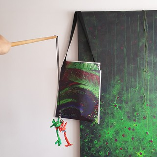 Activité pêche au bébé neurone dans l'hippocampe - Peinture Aurore Boréale