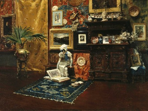 Chase William Merritt - New York - Brooklyn Museum - Studio Interior (1882c.) (olio su tela 71,2 x 101,9 cm)