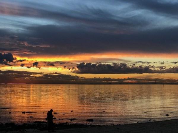 Stunner of a sunset, Dendy Beach, Victoria, Australia