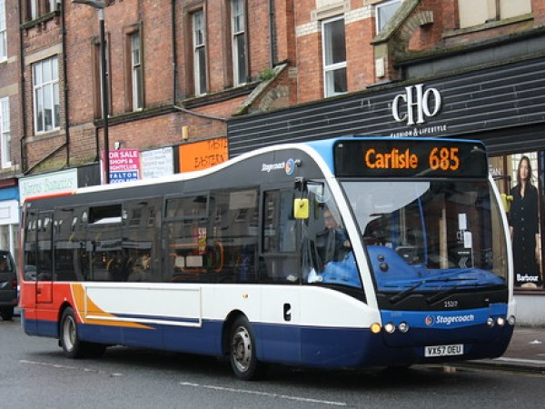 Stagecoach Cumbria And North Lancashire Carlise Based Oparte Versa 25217(VX57 OEU) Seen At Carlise Bus Station While Working The 685 To Carlise