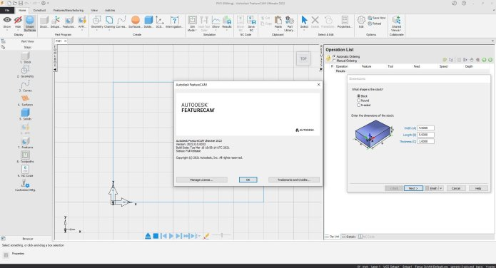 Working with Autodesk FeatureCAM Ultimate 2022 full license