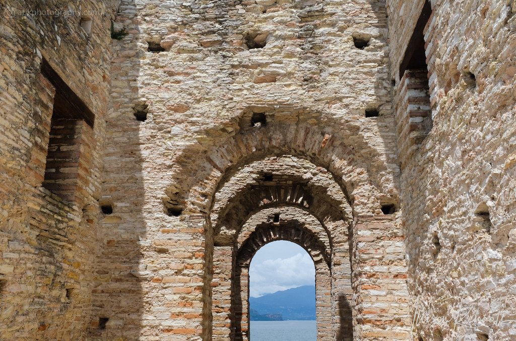 View from Grottoes of Catullus, Sirmione, Italy