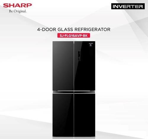 SHARP-4-Door-Glass-Inverter-Refrigerator