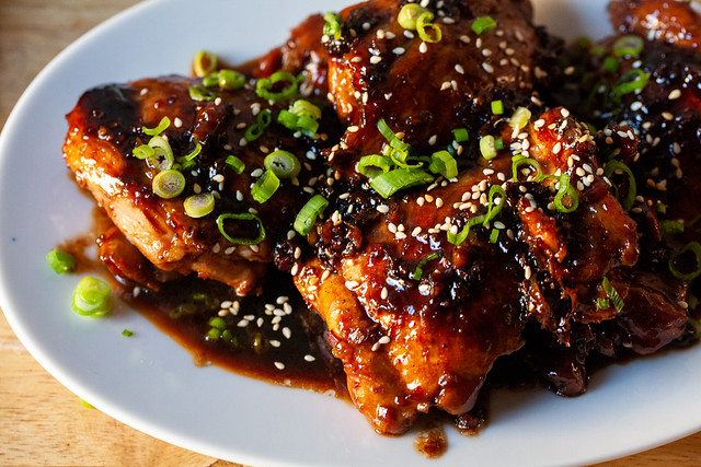 soy-glazed chicken