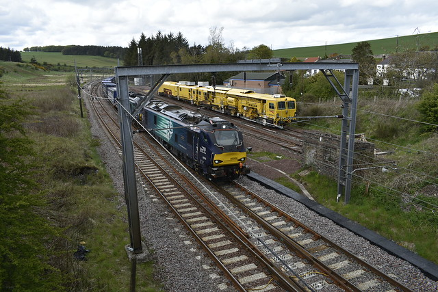 88008 and 68001 at Grantshouse Sidings