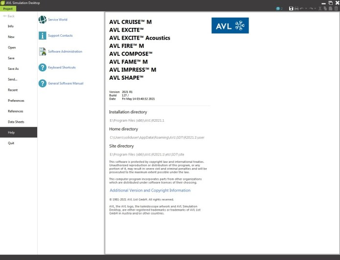 Working with AVL eSuite 2021 R1 full