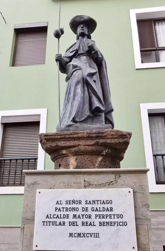 Escultura al Señor Santiago Patrono de Gáldar Alcalde Mayor Perpetuo