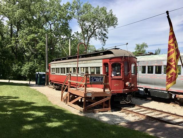 A Chicago Aurora and Elgin interurban electric train