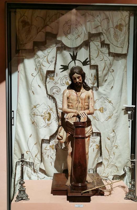 Pasion de Cristo escultura de madera obra anónima del siglo XVI Museo de Arte Sacro de Gáldar Gran Canaria