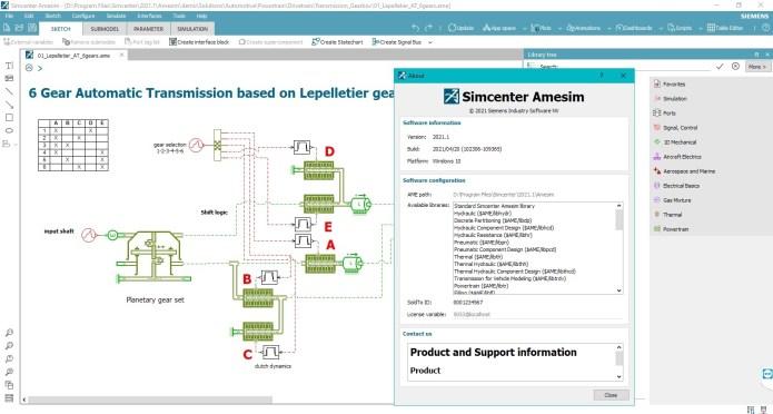 Working with Siemens Simcenter Amesim 2021.1.0 full