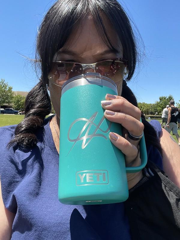 drinking from my new Yeti