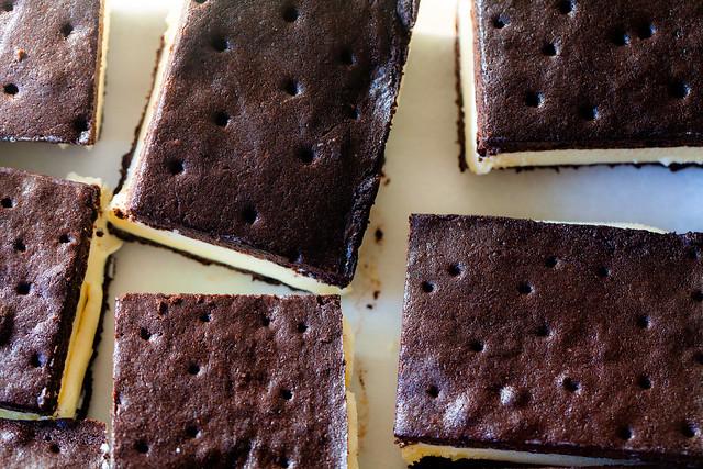 chocolate ice cream sandwiches