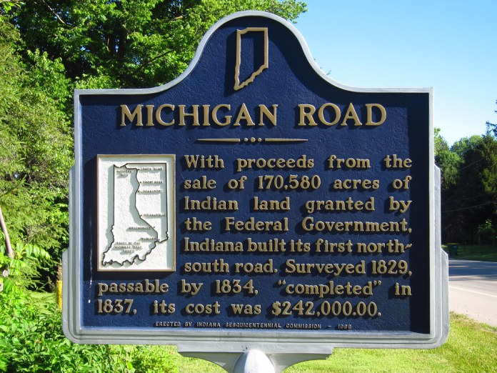 Michigan Road marker