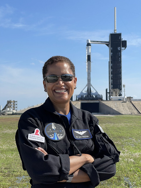 Dr. Sian Proctor at Launch Complex 39A