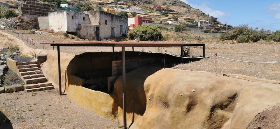 Yacimiento hornos extracción de azucar de las cañas ingenio azucarero de Soleto Santa María de Guía Gran Canaria
