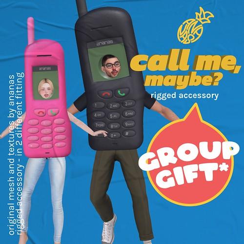 ❤📱❤ Ananas // Call Me, Maybe? @ Mainstore #GroupGift ❤📱❤