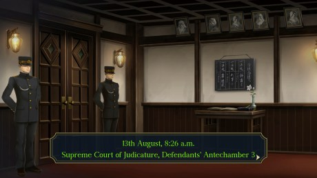"""The Great Ace Attorney Chronicles - """"13th August, 8:26 a.m. Supreme Court of Judicature, Defendants' Antechamber 3."""""""