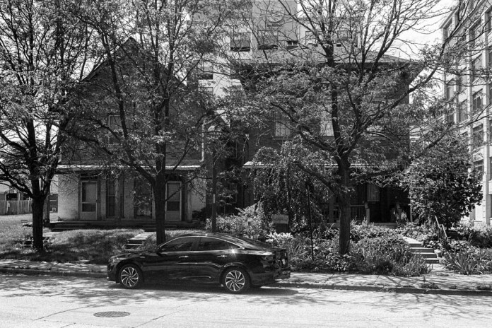 Cars and old houses