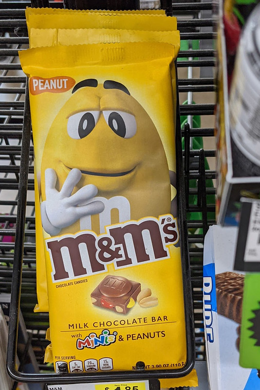 Picture of an M&M Chocolate Bar