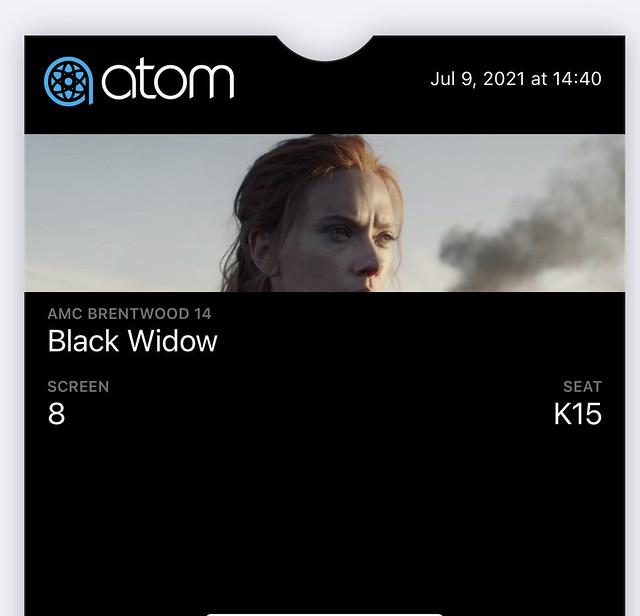 I saw Black Widow