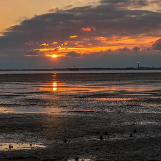 Sonnenuntergang bei Hilgenriedersiel