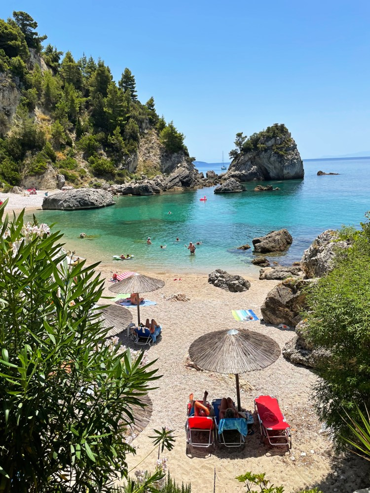 Piso Krioneri Beach and the Ionian Sea, Parga