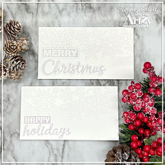 White On White Mini Slimline Christmas Card