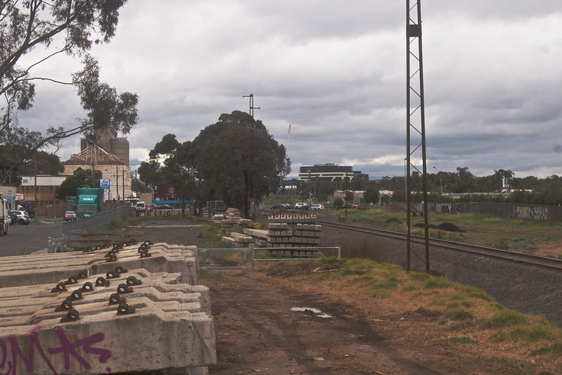 Looking North from the Freight Rail siding in Linda Street Sunshine, 2021-07-23 15:08:13