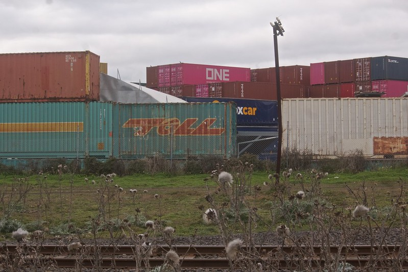 Melbourne Container Park, from the rail siding. 2021-07-23 15:10:15