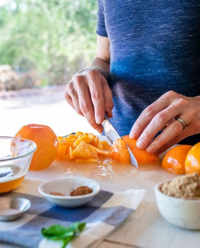 sweet, juicy peaches!