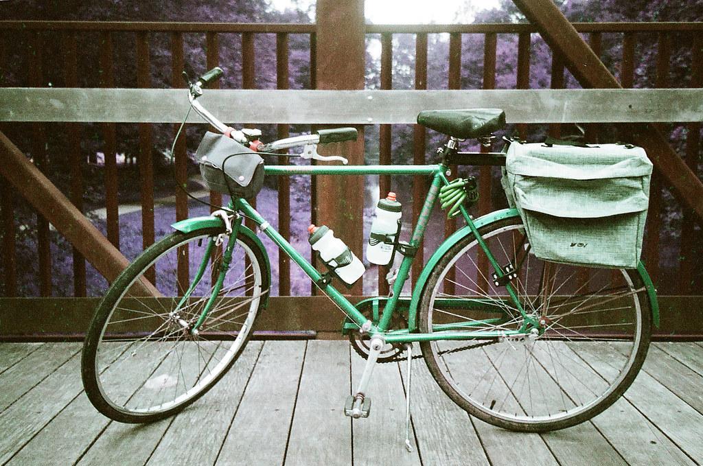 My bike on a bridge