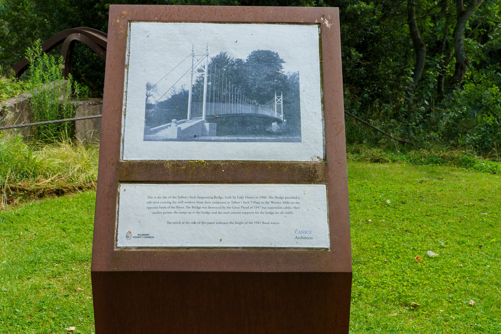 REMNANTS OF OLD SUSPENSION BRIDGE [LADY DESART BRIDGE]-195506