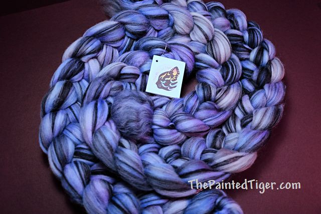 Purple Highlights Zebra Merino - Tiger Club July 2021