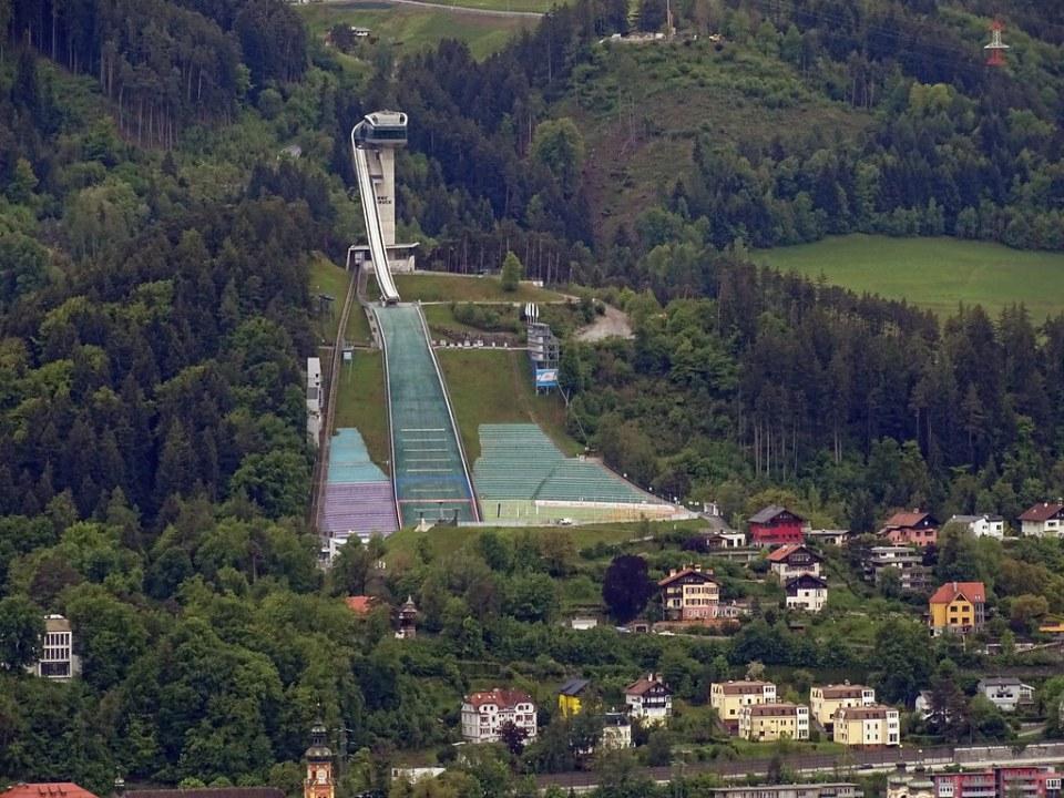 trampolín de saltos de esquí en Bergisel Innsbruck Austria 02