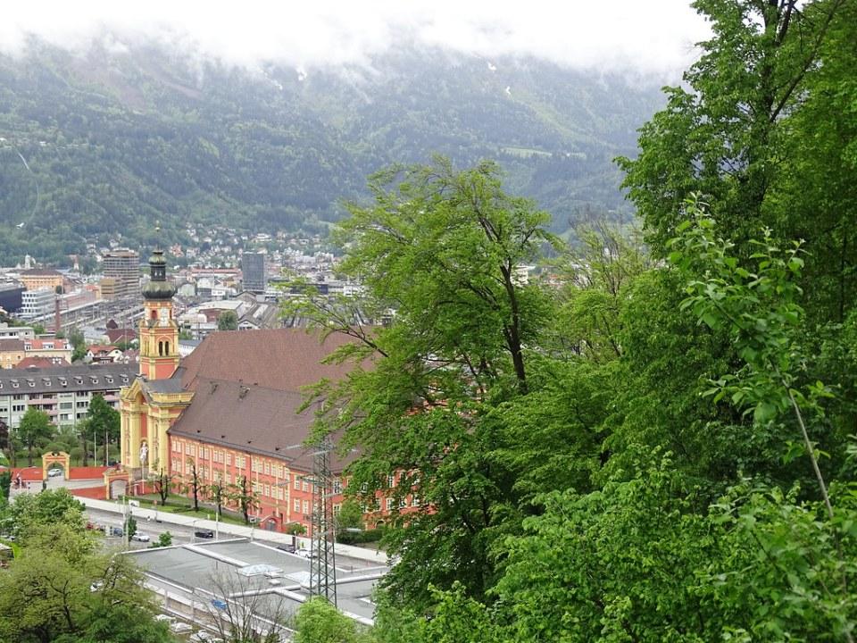 exterior Abadía monasterio de Wilten Stift Wilten Innsbruck Austria 03