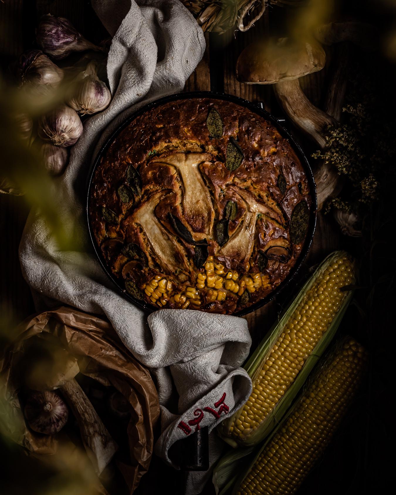 vegetarian loaded cornbread