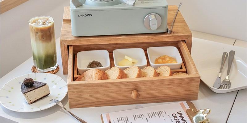 台中大里甜點店   UNNIE CAFE,韓系烤吐司套餐,自己烤吐司好有趣,白色系裝潢超好拍照!