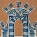 Delftware tulip vase as triumphal arch