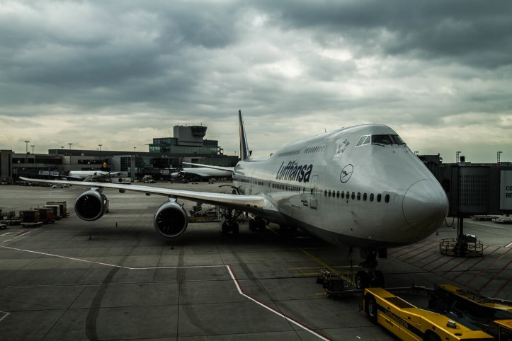 Lufthansa 747 at Los Angeles International