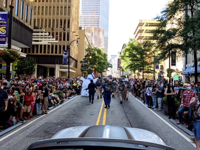 View from the Dragoncon Parade