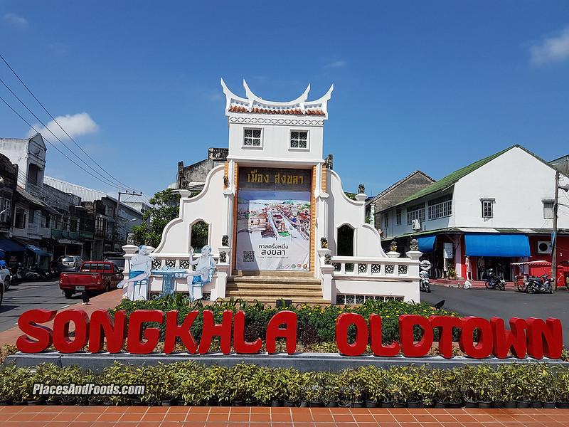 songkla old town sign