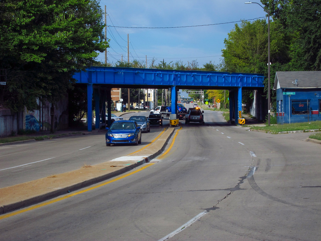 Railroad overpass, WB Old US 40