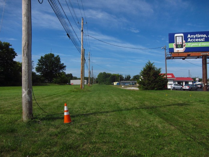 Fmr NR/US 40 alignment, Plainfield IN WB